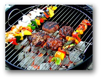 Charcoal grill cooking