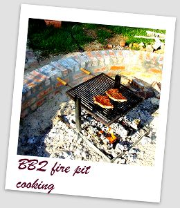 barbecue fire pit cooking