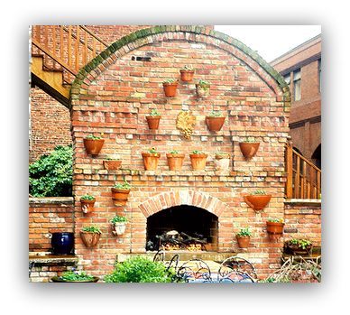 Brick Outdoor Fireplaces